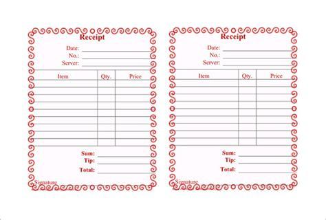 restaurant receipt template 11 restaurant receipt templates doc pdf free premium templates