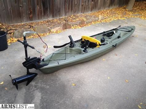 Buster Boats Trophy Model by Armslist For Sale 12 Kayak With Trolling Motor Great