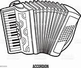 Coloring Musical Instruments Children Accordion Vector Instrument Illustration Painted Paintings Equipment Baby Istockphoto sketch template