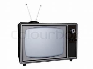 3d Fernseher Mit Polarisationsbrille : 3d alten retro tv mit antenne isoliert auf wei stock foto ~ Michelbontemps.com Haus und Dekorationen