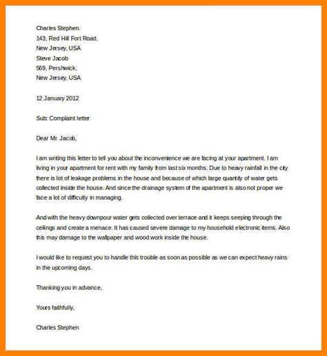 complaint letter  supplier cains