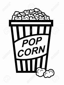 Popcorn clipart popped popcorn - Pencil and in color ...