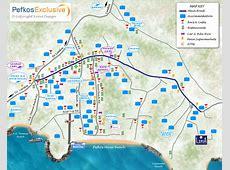 Map of Pefkos, Rhodes