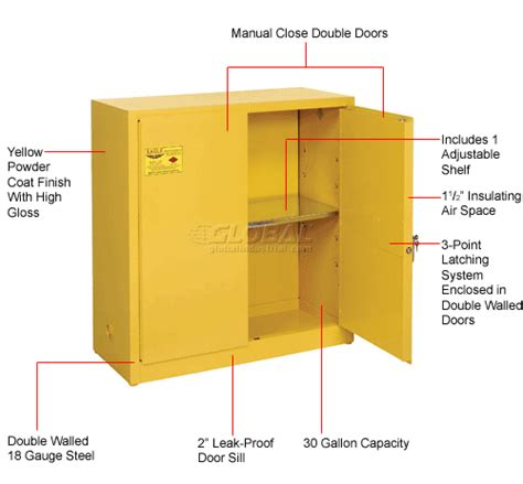 flammable osha cabinets cabinets flammable eagle flammable cabinet with manual