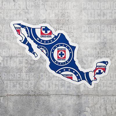 Cruz Azul Mapa Vinyl Sticker Decal Calcomania Futbol ...