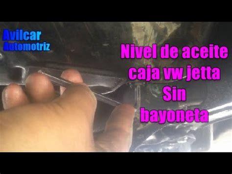 como medir aceite transmision automatica de jetta avilcar