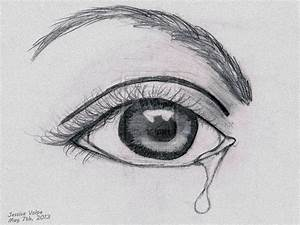 Crying Eye Drawings Step By Step Easy Eyes To Draw How To ...