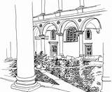 Coloring Courtyard Pages Colosseum Roman Fountain Adults Italy Trevi Designlooter Adventures Sheet Printable Inner Getcolorings Getdrawings Template sketch template