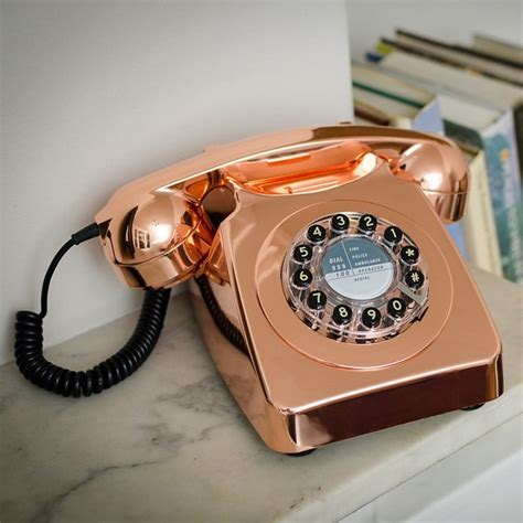 Wild and Wolf 746 Phone   Copper   retro telephone