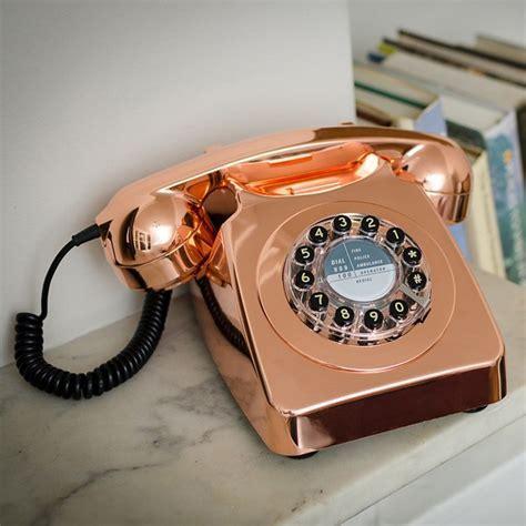 Wild and Wolf 746 Phone   Copper   retro telephone
