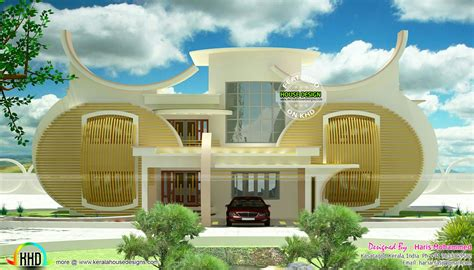 Strange circular home design - Kerala home design and