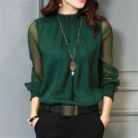 chiffon blouses aliexpress com buy chiffon blouse 2017 tops