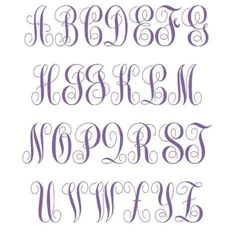 fancy script monogram font images  fancy script embroidery font machine embroidery