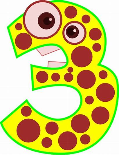 Number Clip Clipart Animal Three Edited Cliparts