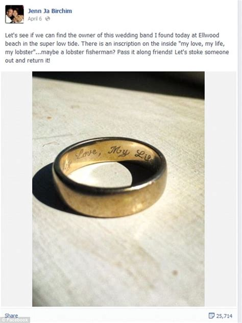 lost wedding ring how to find couple reunited with long lost wedding ring aol com