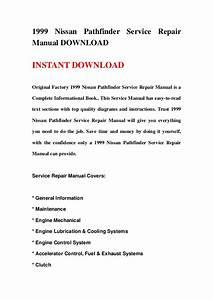 1999 Nissan Pathfinder Service Repair Manual Download