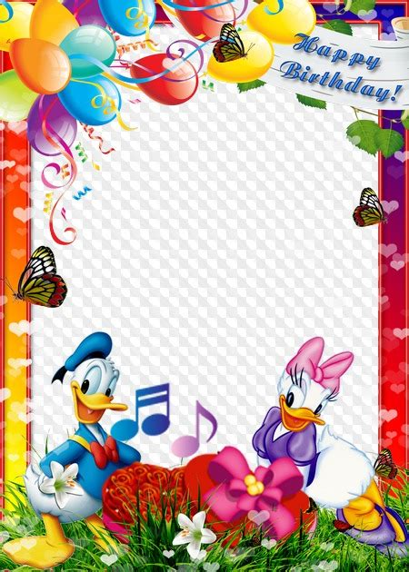 birthday photo frame png   cliparts