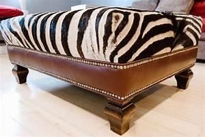 Zebra cocktail ottoman home design buying zebra for Zebra sectional sofa
