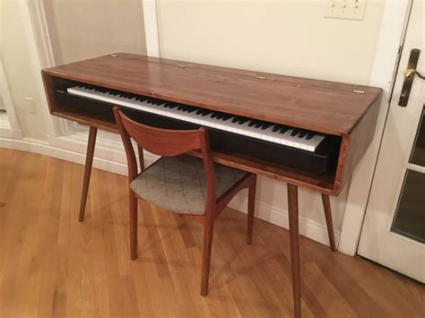 mid century modern keyboard stand piano stand etsy