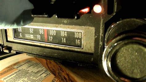 gm delco  fm  track car radio youtube