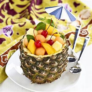 Pineapple, Fruit, Bowl
