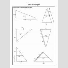 Similar Triangles Worksheet By Wendysinghal  Teaching Resources