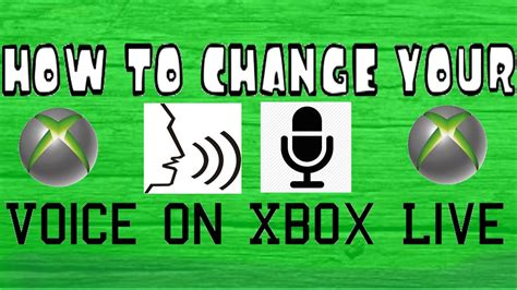 How To Change Your Voice On Xbox Live  Youtube
