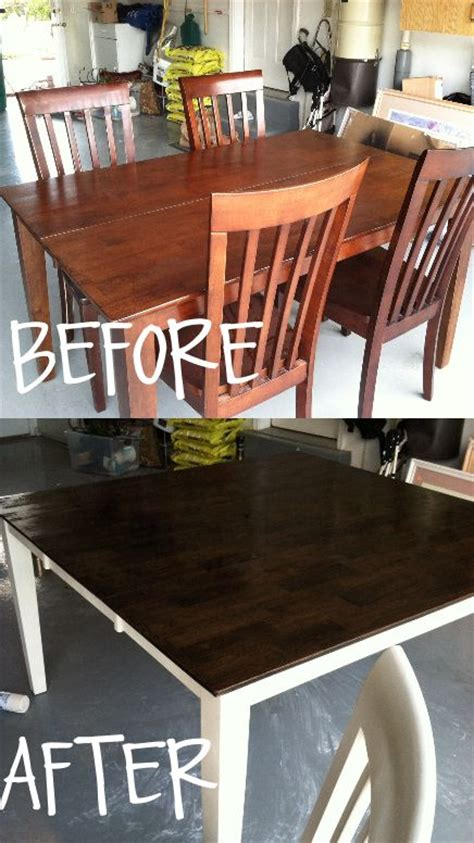 How To Stain And Paint Your Kitchen Table  Home Sweet