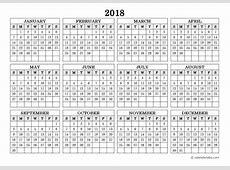 Free Printable 2018 Calendar Template Excel Word