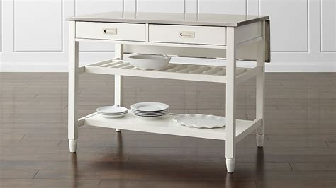 sheridan white kitchen island reviews crate  barrel