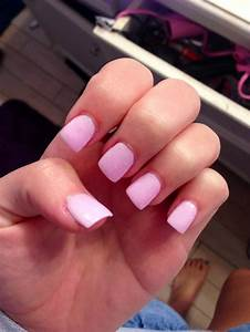 Perfect light pink acrylic nails with a hint of sparkle ...