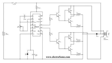 Low Power Square Wave Inverter Circuit Using