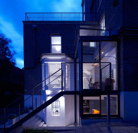 decorative story townhouse house designs featuring glass extensions enjoy nature