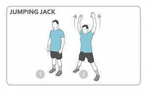Jumping Jack Exercise Diagram  Cardio  Personal Fitness