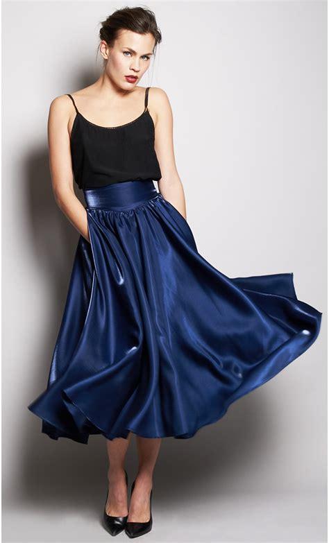 Long ruffled silk skirt   mondefile.com