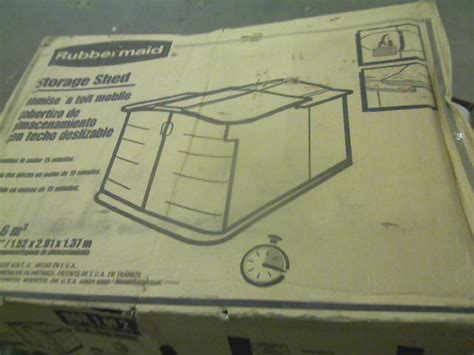 Rubbermaid Slide Lid Shed 3752 by Rubbermaid Slide Lid Storage Shed 3752 92 Cubic Ft Ebay