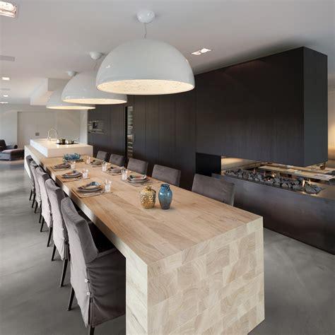 recherche table de cuisine cuisine design blanche et bois avec îlot voici une cuisine