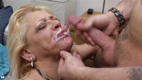 Margit V In Mature Lady Gets Her Mouth Covered In Cum