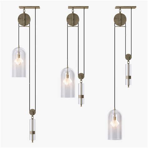 pulley pendant light 3d 3ds