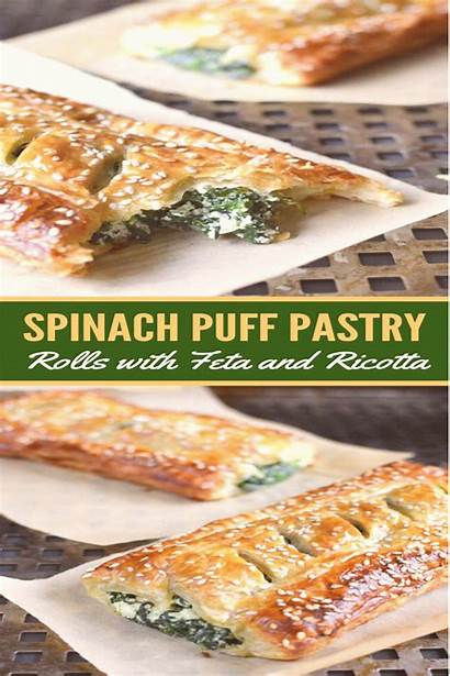 Pastry Puff Spinach Ricotta Rolls Appetizers Vegetarian