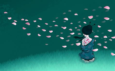 Beautiful Illustrative Wallpapers by Japanese Wallpapers Beautiful Geisha Wallpapers 4