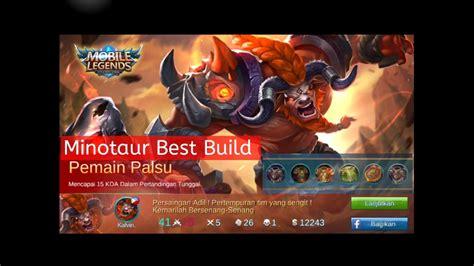 Best Build For Minotaur (tank) + Mvp
