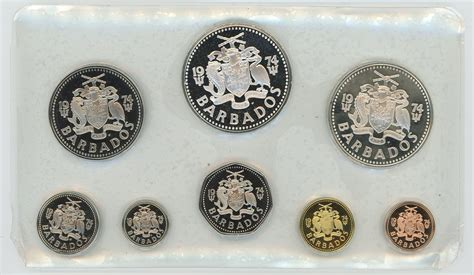 coin proof silver coins 1974 barbados franklin mint