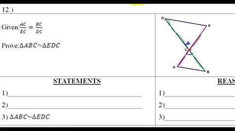 day 6 hw 10 to 12 similar triangle word problems and proofs worksheets sles