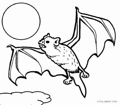 Bat Vampire Coloring Pages Drawing Flying Printable