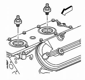 Where Is The Knock Sensor In A 2002 Chevy 6 Liter Engine