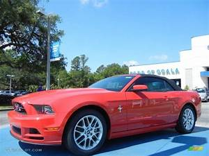 2014 Race Red Ford Mustang V6 Premium Convertible #80894982 | GTCarLot.com - Car Color Galleries