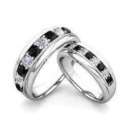 Black Diamond Wedding Ring Sets His and Hers