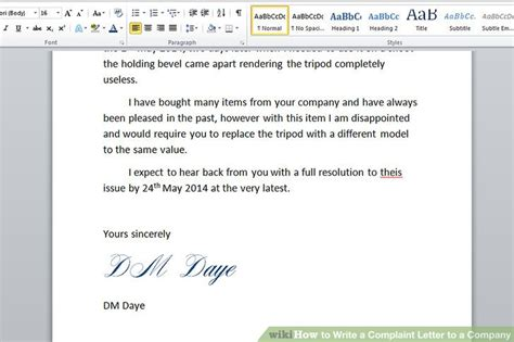 How to Write a Complaint Letter to a Company (with Sample