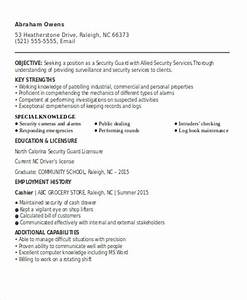 security guard resumes 10 free word pdf format With free sample resume for security guard